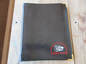 Black Leather Binder 3 Ring Notebook University Of New Mexico Lobo Club Unm Vtg