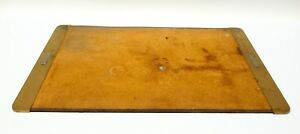 Vintage Executive Brass End Cap Desk Pad