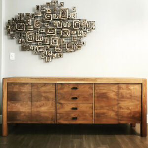 Mid Century Walnut And Oak Credenza Or Sideboard By Lou Hodges