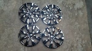 1 Set Of 4 New 2009 10 11 12 2013 Corolla Hubcaps 15 Wheel Covers Chrome 61147