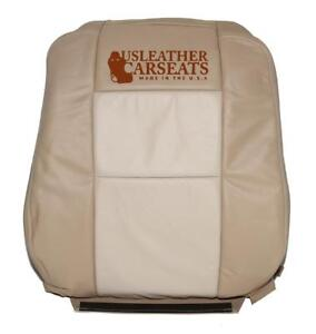2008 Ford Explorer Eddie Bauer Driver Lean Back Leather Seat Cover 2 Tone Tan