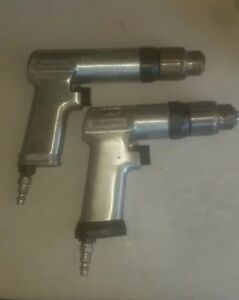 Set Of 2 Snap on 3 8 Drive Pneumatic Air Drill Pdr3a Pdr5a