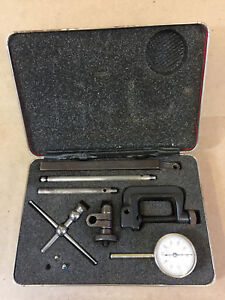 Starrett 196 Universal Back Plunger Dial Test Indicator Set 0 001 With Case Usa