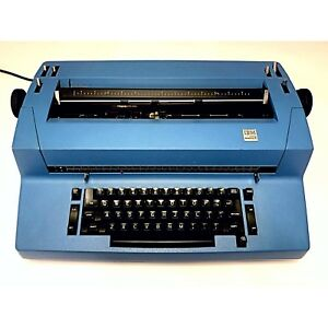 Vintage Ibm Selectric Ii Correcting Typewriter Blue Working