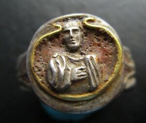 Senator Patrician Senatorial Ancient Roman Silver Gold Massive Ring