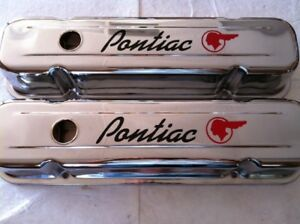 326 350 400 455 Pontiac Tall Chrome Valve Covers 1959 79 Gto Firebird Trans Am