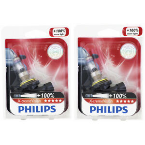 Two Philips Xtremevision Halogen Light Bulb 9006xvb1 For 9006 Hb4 12v 55w Ul
