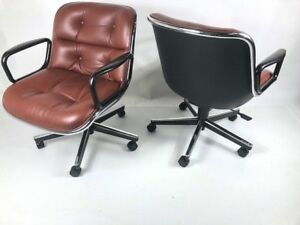 Knoll Pollack Chairs Qty 4 1 Lot Designer Vintage Office Furniture Knoll