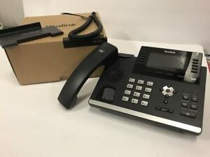 Yealink T465 Gigabit Voip Ip Phone Missing Handset Cable Sip t46s Used
