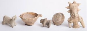 5 Piece Ancient Pottery Lot Circa 1st Millennium Bc Corinthian Vessel