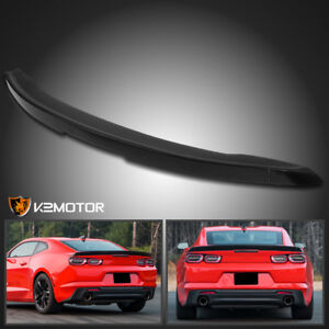 Chevy 2016 2019 Camaro Matte Black Abs 3 Piece Blade Rear Trunk Wing Spoiler