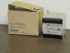 Omron Cpm1a 20cdr a Sysmac Plc 100 240vac 24vdc In out new Old Stock