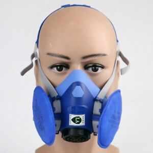 Adjustable Strap Gas Mask Emergency Survival Safety Respiratory Gas Bx