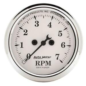 Autometer 2 1 16 Inch 7000rpm Old Tyme Tachometer 52 4mm Am1694