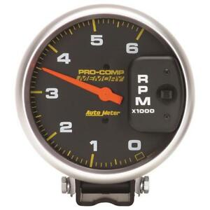 Autometer 5 Inch Diesel 6000 Rpm With Memory 4 Pulse Tachometer Pedestal Mount