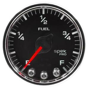 Autometer Spek Pro Gauge Fuel Level 2 1 16in For 0 270 Programmable Blk Chrm A