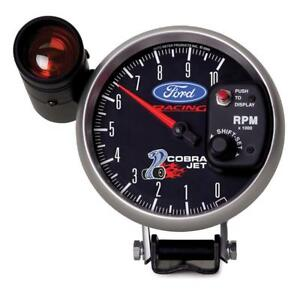 Autometer Ford Racing 5in 10 000 Rpm Pedestal Mount Tachometer Cobra Jet Mustang