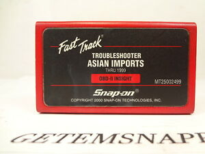 Snap On 1999 Asian Troubleshooter Cartridge Mtg Mt2500 Scanner