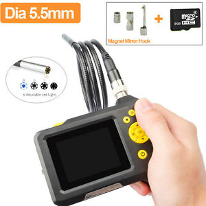 Digital Waterproof Camera Endoscope Borescope Scope 8gb Dvr magnet hook mirror