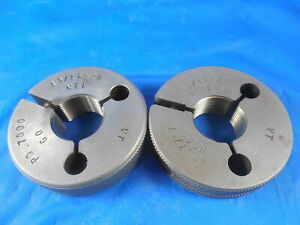 13 16 20 Unef 3a Vermont Thread Ring Gages 8125 Go No Go P d s 7800