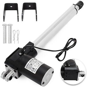 10 Inch Stroke Linear Actuator 6000n 1320lbs Pound Max Lift 12v Volt Dc Motor