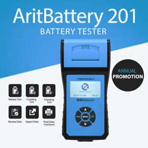 Topdon Artibattery 201 Car Battery Tester Digital Vehicle Analyzer 2000 Cca 12v