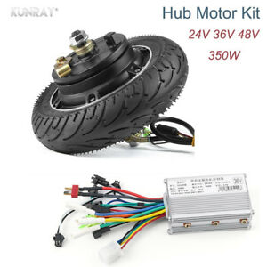 8 350w 24v 36v 48v Dc Brushless Hub Wheel Motor For Electric Scooter Skateboard
