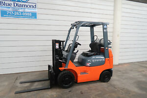 Toyota 7fgcu20 4 000 Cushion Tire Forklift Sideshift Lpg Low Hours