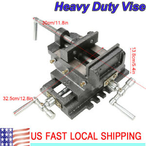 4 Cross Drill Press Vise 2 Way X y Slide Metal Milling Clamp Machine Heavy Duty