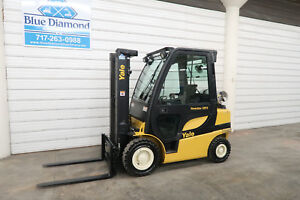 2012 Yale Glp050 5 000 Pneumatic Tire Forklift Lpg 3 Stage 4 Way Hyd S s