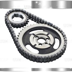 For Chevy Gm Sbc V8 Double Roller Timing Chain Set 5 7l 283 305 327 350 383 400