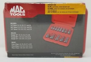 Mac Tools 13 pc External Star Socket Set smxve13b Brand New Free Shipping