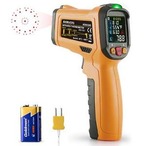 Infrared Thermometer Aidbucks Ad6530d Digital Laser Non Contact Cooking Ir Tempe