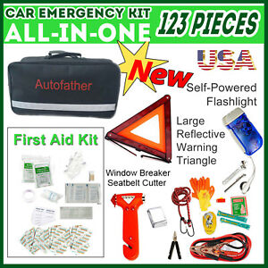 New Design Emergency Kit Travel First Aid Medical Car Roadside Home 123pcs In 1