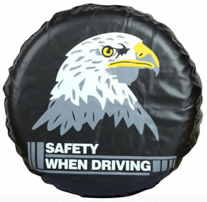 17 Inch Spare Tire Wheel Covers With Eagle Custom For All Suv Car Black