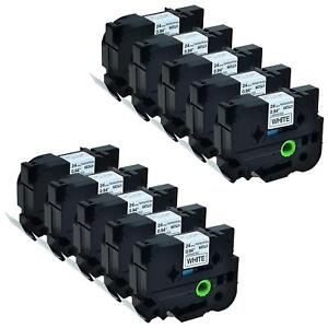 10pk Compatible Brother Label Tape Tze 251 Black On White P touch Labelmaker 1
