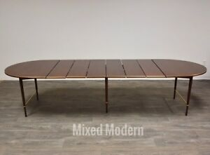 Paul Mccobb Mahogany And Brass 128 Dining Table Mid Century Modern Connoisseur