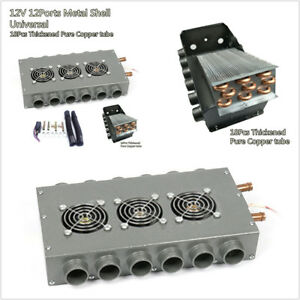 Vintage Muscle Car Truck 12v 12 Ports Metal Shell 18 Pcs Pure Copper Coil Heater