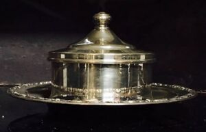 Japanese Or Hawaiian Sterling Silver Lidded Serving Dish