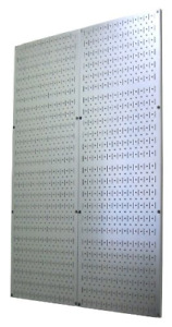 4 Foot Pegboard Sheets With Formed Edges By Wall Control Pegboard Two Pack Of