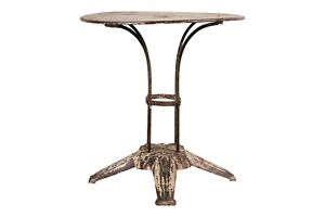 Art Deco Cafe Table With Faux Marble Painted Top 88083