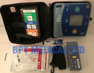 Philips Heartstart Fr2 Aed Laerdal Defib Good Battery Pads Case Pass Check