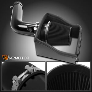 Ford 09 10 F150 07 14 Expedition 5 4l V8 Glossy Black Cold Air Intake Filter
