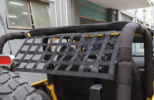 For Jeep Wrangler Tj 1997 2006 Multifunction Car Roof Top Rack Mesh Net Black