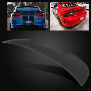 For 15 18 Dodge Charger Oe Factory Style Matte Black Abs Rear Trunk Spoiler Wing