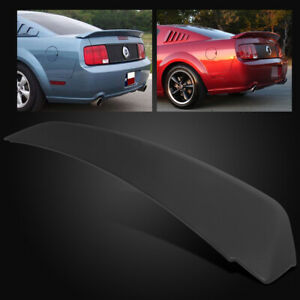 For 05 09 Ford Mustang Gt500 Duck Tail Style Matte Black Rear Trunk Spoiler Wing
