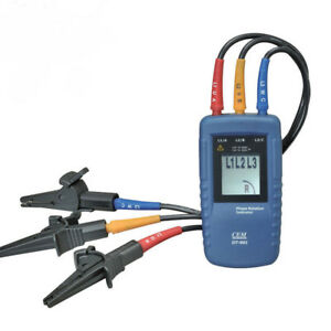Set Of Cem Dt 901 Three 3 Phase Rotation Indicator Tester Meter 40 960vac Catiii