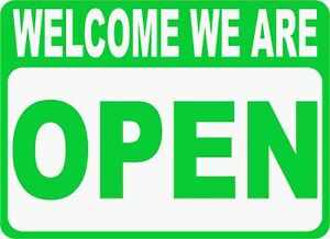 Open Closed Sign Size Options Two Sided Business Signs 2 sided Welcome Sorry