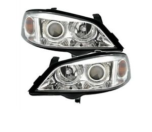 Opel Astra G 1998 2004 Chrome Vp54 Set Angel Eyes Headlights Lhd Rhd