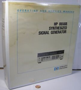 Hp 8656b Synthesized Signal Generator Operating Service Manual 100khz 990mhz